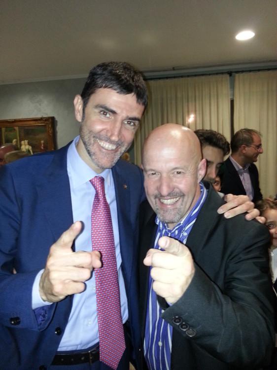 Marco Berry con Davide Gariglio