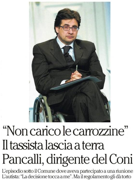 17_9_Repubblica_Pancalli_CONI_rifiutato_taxi